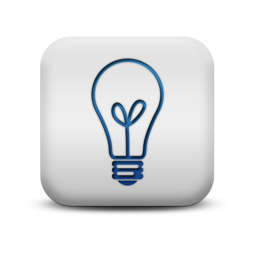 116998 matte blue and white square icon business light on