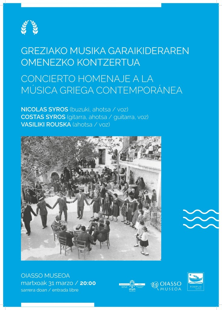 Cartel-Concierto música griega contemporánea-Irun-Kultura-001